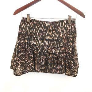 NWT Theory Wimin Silk Mini Skirt 00 Flames